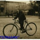 *NEW* Antique Bicycle Photo:(8X10) Postal Messenger, Old, 14year old, standing