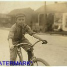 "*NEW* Antique Bicycle Photo:(8X10) ""Percy Neville"", Young Messenger Boy, Old"