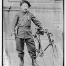 *NEW* Antique Bicycle Photo:(8X10) Paris Policeman, Uniform, 1909, Beret, Boots