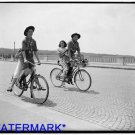 *NEW* Antique Bicycle Photo:(8X10) Girls Riding on Back, Boy Scouts, Wash D.C.