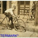 "*NEW* Antique Bicycle Photo:(8X10) Postal Telegraph Messenger, 12yrs,""Leo DAy"""