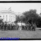 *NEW* Antique Bicycle Photo:(8X10) President Harding & Bicycle Boys, 1921 WhiteH