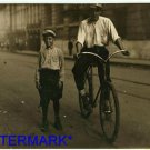 *NEW* Antique Bicycle Photo:(8X10) Youngest and Oldest Messenger Boys, Mobile AL