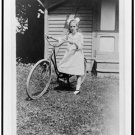*NEW* Antique Bicycle Photo:(8X10) Elizabeth Hughes, 1912, Girls Bicycle, dress
