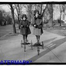 *NEW* Antique Bicycle Photo:(8X10) Children of Roger Nielson, Danish, Tricycle?