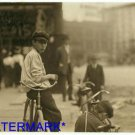 *NEW* Antique Bicycle Photo:(8X10) Learning Printers Trade, Montgomery Alabama