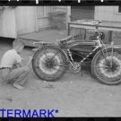 *NEW* Antique Bicycle Photo:(8X10) Decorating Bicycle, National Rice Fest. Crow