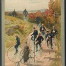 "*NEW* Antique Bicycle Photo:(8X10) ""Bicycling"" Large Wheel, Big Wheel, Painting"