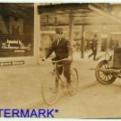 *NEW* Antique Bicycle Photo:(8X10) Mackay Telegraph Company Messenger Boy, 13yrs
