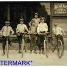 *NEW* Antique Bicycle Photo:(8X10) ADAMS EXPRESS COMPANY, Bicycle Messengers