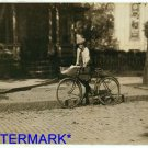 *NEW* Antique Bicycle Photo:(8X10) 12 yr old, delivery boy, Montgomery laundry