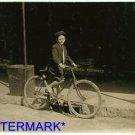 *NEW* Antique Bicycle Photo:(8X10) 10 year old, Delivery boy, $3/week Drug Store