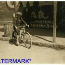 *NEW* Antique Bicycle Photo:(8X10) 10yr Old, Delivery Boy, Opelika Drug Store
