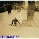 *NEW* Antique Bicycle Photo:(8X10) Washington D.C. Youngest Newsboy, Age5,Willie