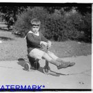 *NEW* Antique Bicycle Photo:(8X10) Houston,TX, Boy on wooden tricycle, wheels