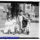 *NEW* Antique Bicycle Photo:(8X10) Sze Chinese Children, Tricycle, Group, Horse