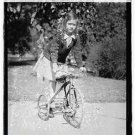 *NEW* Antique Bicycle Photo:(8X10) Girl in Houston, TX, Tricycle, Standing