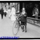 *NEW* Antique Bicycle Photo:(8X10) New York Times Courier, Newsboy, Light,Horn