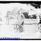 *NEW* Antique Bicycle Photo:(8X10) Fireman on Bicycle, unknown location,uniform