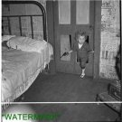 Antique-RP-Cat Photo:(8X10) Coal Miner Child in door, toy gun, Bertha Hill, WV