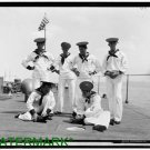 Antique-RP-Cat Photo:(8X10) USS Nahant, U.S.S., Ships Mascot cat with sailor