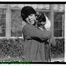 Antique Cat Photo:(8.5x11) Mrs. M.K. Metcalf, Cat Show, 1927 , Unknown location