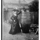 "Antique Cat Photo:(8.5x11) Mrs. Anna Edson, ""Queen of the Mist"" Kitten, Antique"