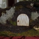 Bark Fairy house with Wagon, Handcrafted