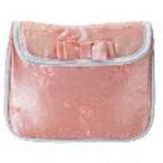 Pink Embroidered Satin Cosmetic Bag with Free Shipping