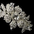 Charming Silver Side Accented Flower Headpiece w/ Clear Rhinestones & Austrian Crystals