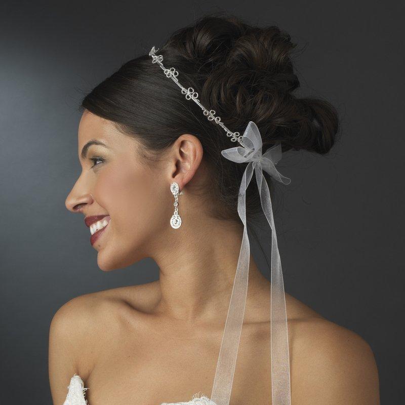 Charming Silver Greek Stefana Wedding Crowns