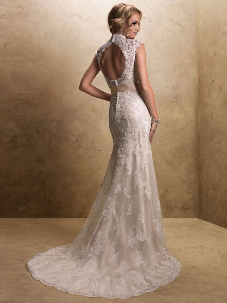 Lace wedding gown Maggie Sottero Bronwyn