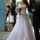 Maggie Sottero size 6 Ivory organza  #779