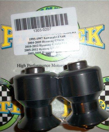 Pro-tek Swing Arm Spool Slider Hyosung 2005 2006 2007 2008 2009 GT650R EFI Black SAS-18K