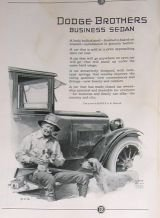 1923 Dodge Business Sedan Prince Art Ad Hamilton Watch