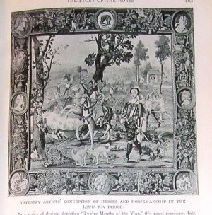 1923 Print Tapestry 12 Months of the Year Louis XIV