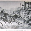 1923 Photo Print Ben Hurs Chariot Race by Artist Checa