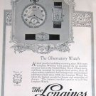 1923 Longines Watch Ad & Elgin Watch Ad Beautiful Art