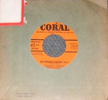 RARE Sidney Torch Mediterranean Concerto 45 Record NM
