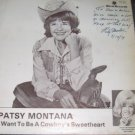 Patsy Montana Want To Be A Cowboys Sweerheart 33 LP Signed Record RARE