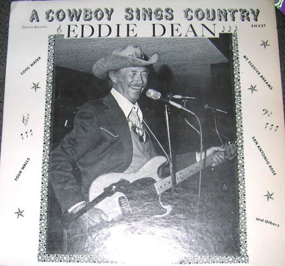 Eddie Dean A Cowbot Sings Country LP Record Signed Mint RARE