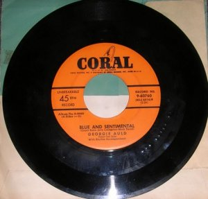 Georgie Auld Tenderly & Blue And Sentimental 45 Record