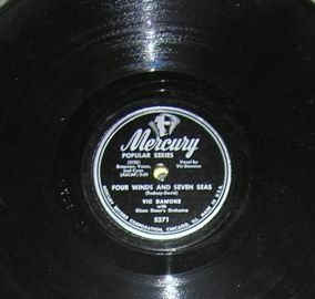 Vic Damone, Four Winds and Seven Seas, Breaking My Heart 78 Mercury 5271