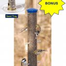 *BONUS* Aspects Large Blue Quick-Clean Nyjer/Thistle Finch Feeder with Seed Tray
