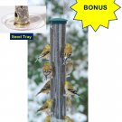 *BONUS* Aspects Large Spruce Quick-Clean Nyjer Tube Finch Feeder with Seed Tray
