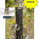 *BONUS* Aspects Medium Antique Brass Quick-Clean Seed Bird Feeder with Seed Tray