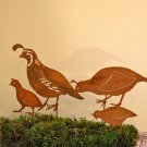 California Quail Family Stake Set Silhouette