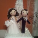 Custom Personalized Winter Wedding Cake Topper