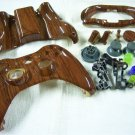HYDRO DIPPED CUSTOM XBOX 360 CONTROLLER SHELL WOOD GRAIN BRILLIANT HIGH GLOSS
