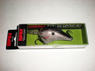 Rapala DT-10 Crankbait, New in Package, Silver, Bass,Pike,Muskie lure